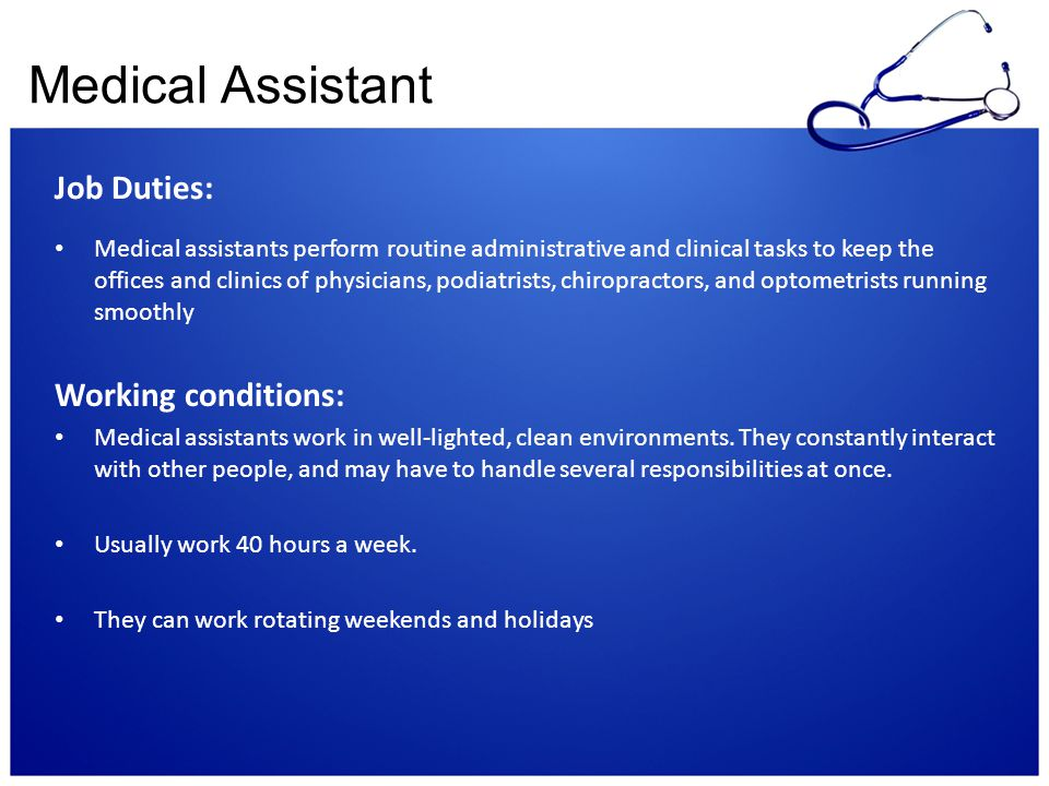clinical duties of a medical assistant