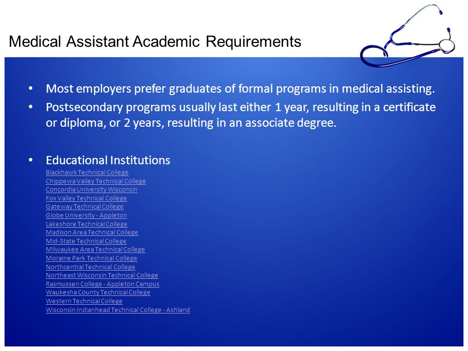 Medical Assistant Academic Requirements