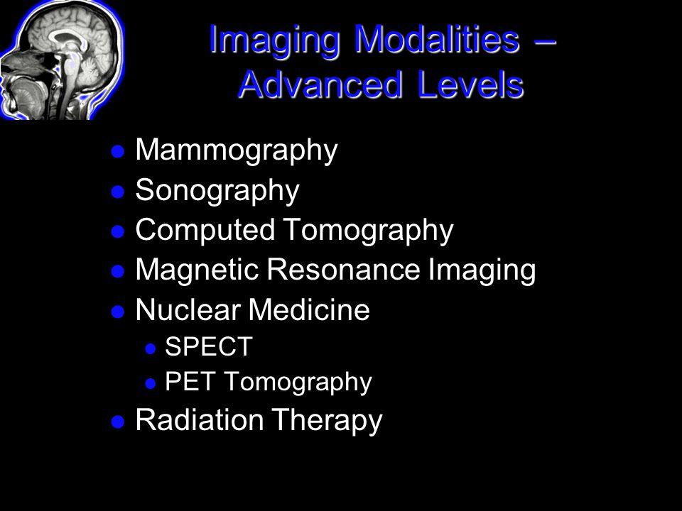 Imaging Modalities – Advanced Levels