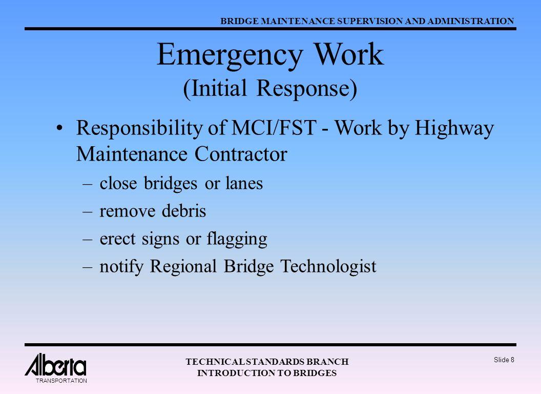 Emergency Work (Initial Response)