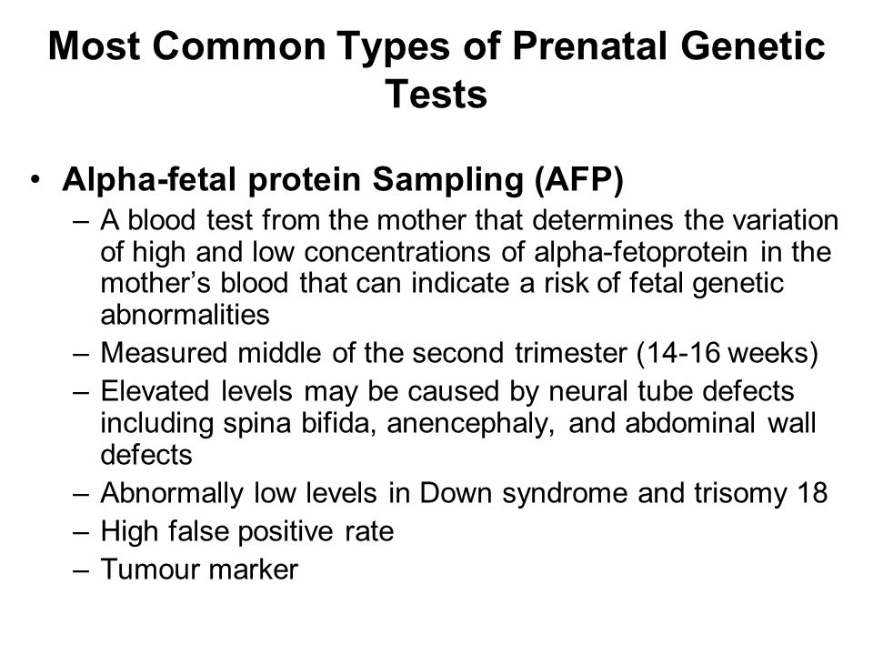 Most Common Types of Prenatal Genetic Tests