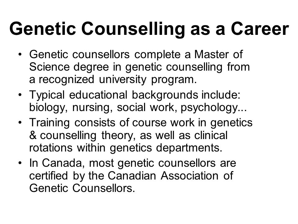 Genetic Counselling as a Career