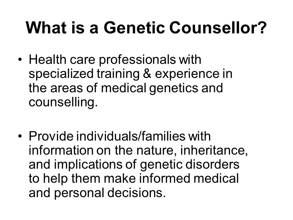 What is a Genetic Counsellor