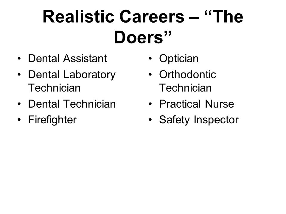 Realistic Careers – The Doers