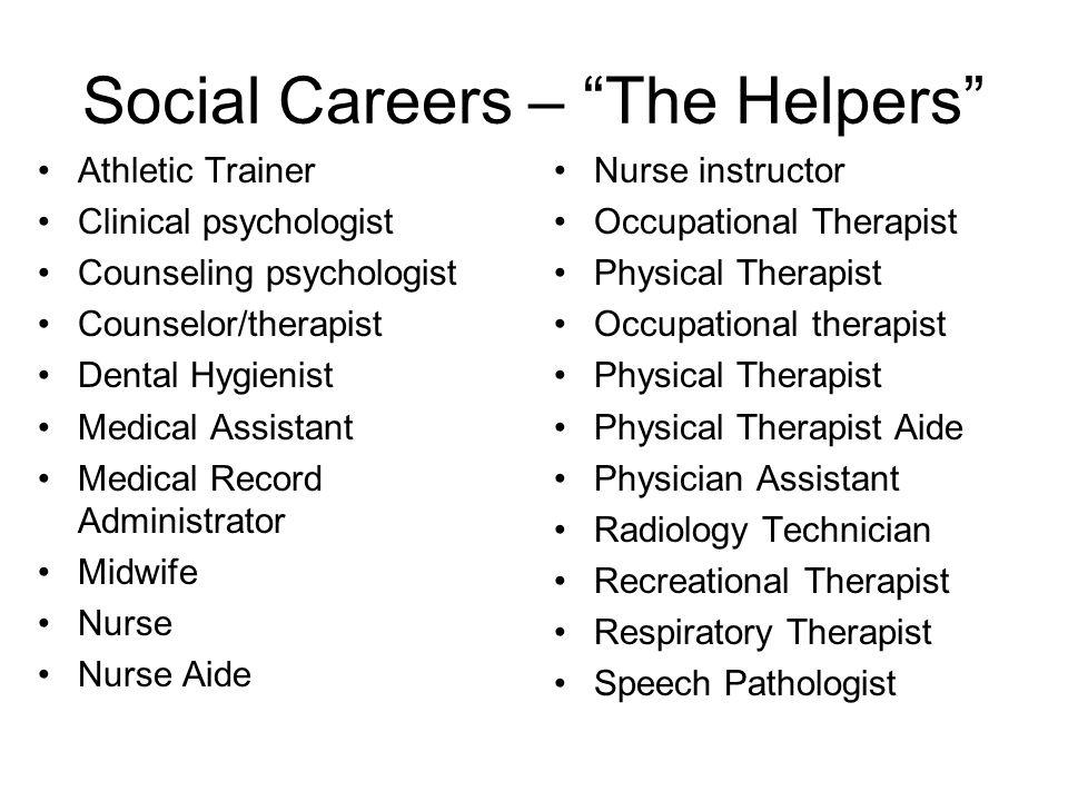 Social Careers – The Helpers