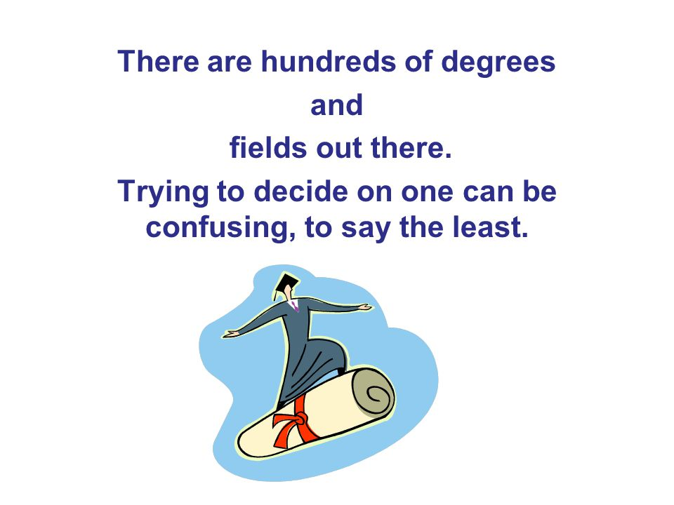 There are hundreds of degrees