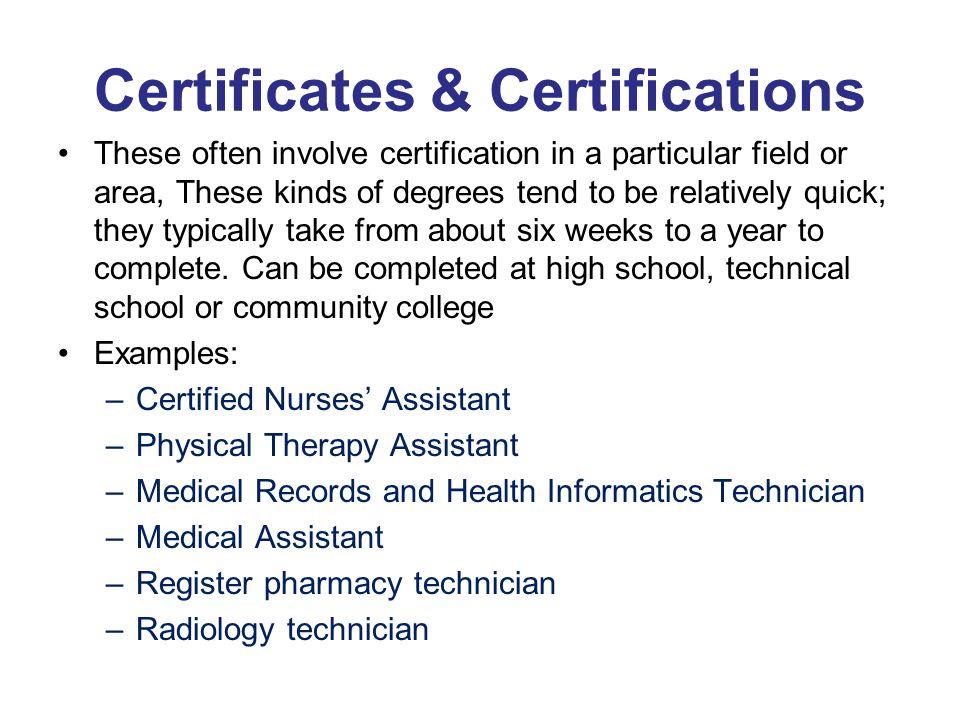 Certificates & Certifications
