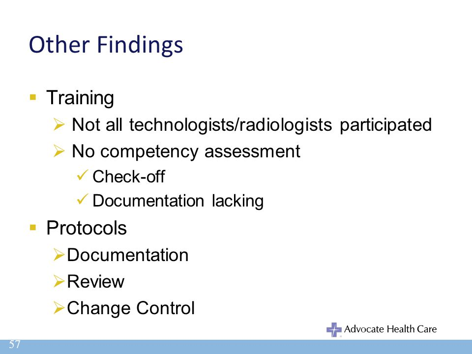 Other Findings Training Protocols