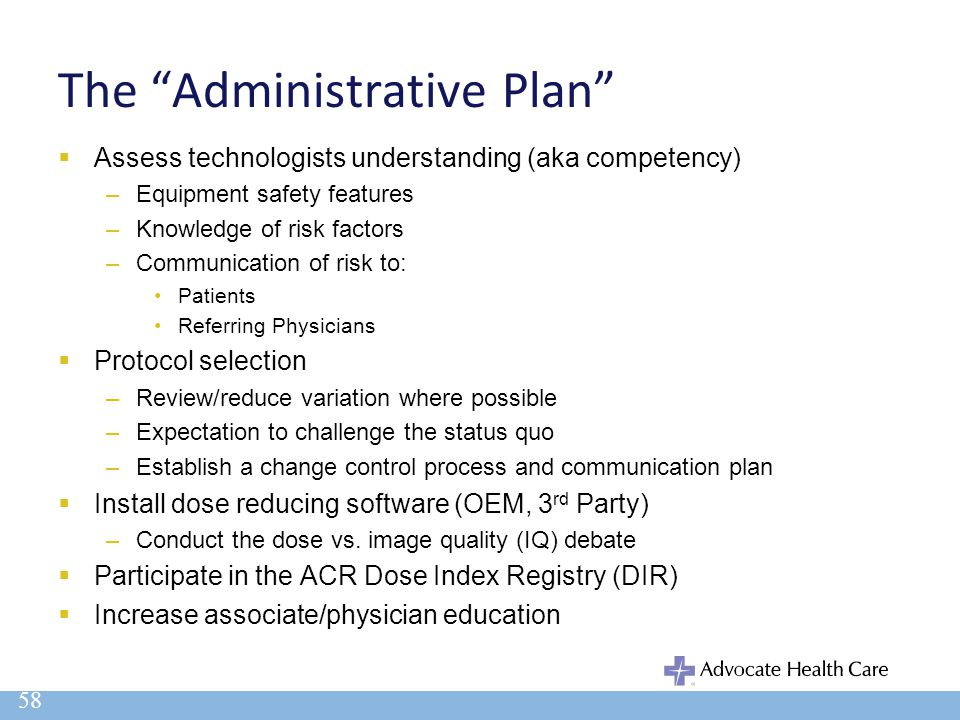 The Administrative Plan