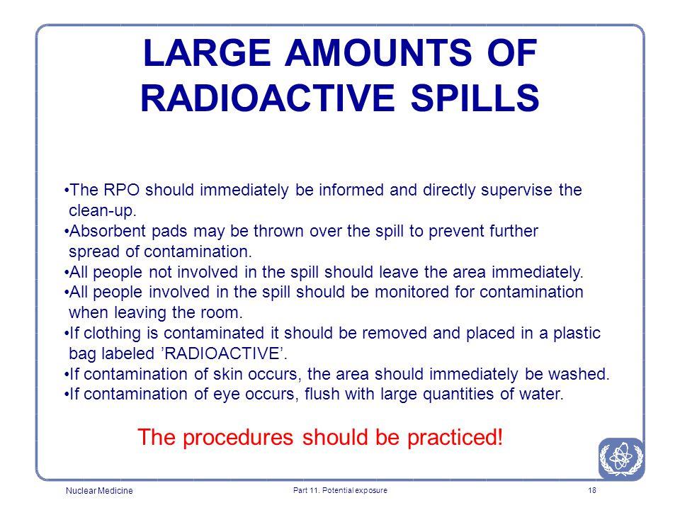 LARGE AMOUNTS OF RADIOACTIVE SPILLS
