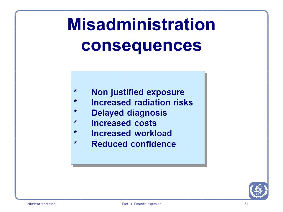Misadministration consequences