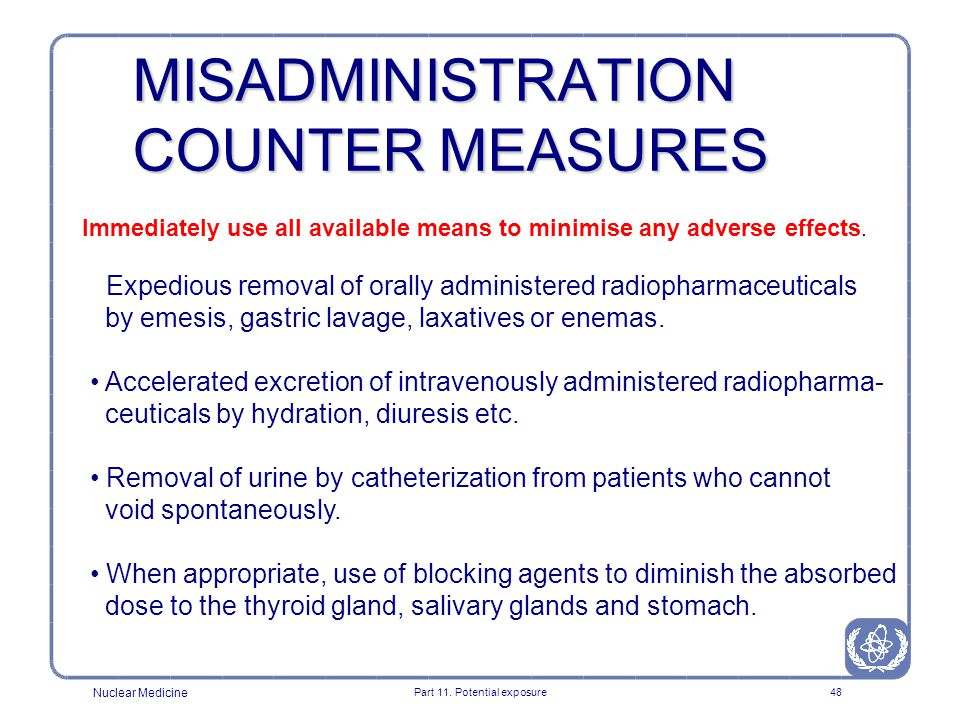 MISADMINISTRATION COUNTER MEASURES