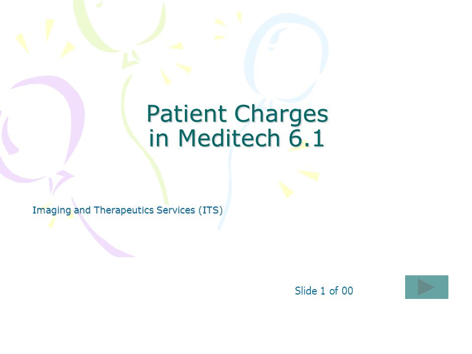 Patient Charges in Meditech 6.1