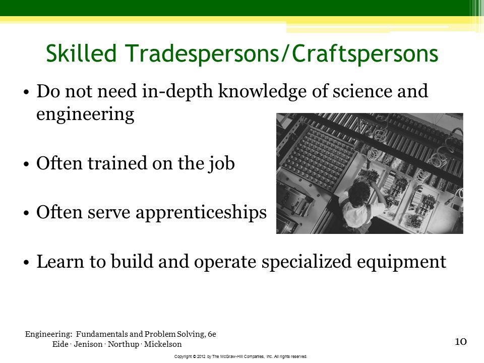 Skilled Tradespersons/Craftspersons