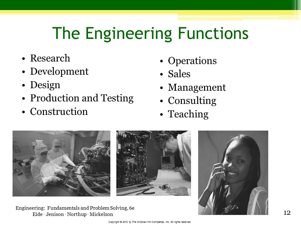 The Engineering Functions