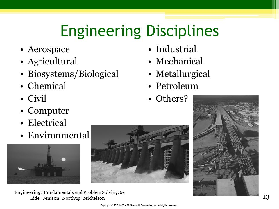 Engineering Disciplines