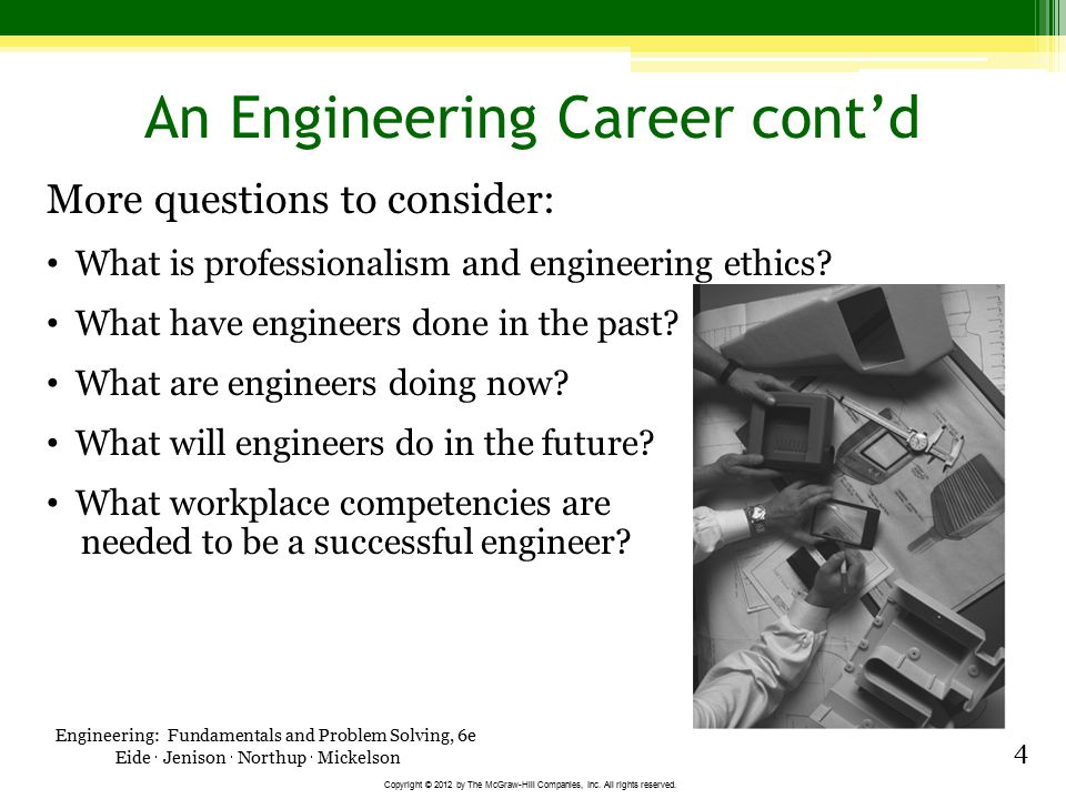 An Engineering Career cont'd