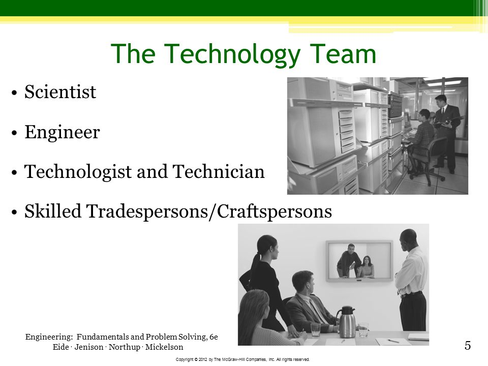 The Technology Team Scientist Engineer Technologist and Technician