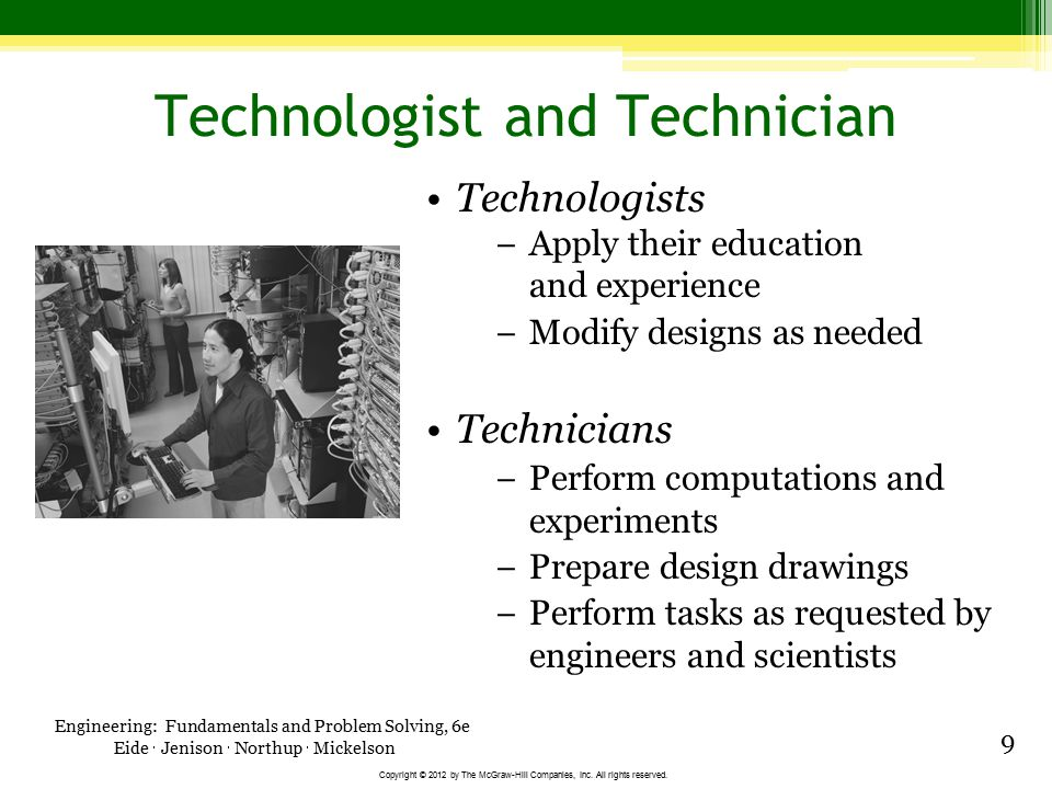 Technologist and Technician