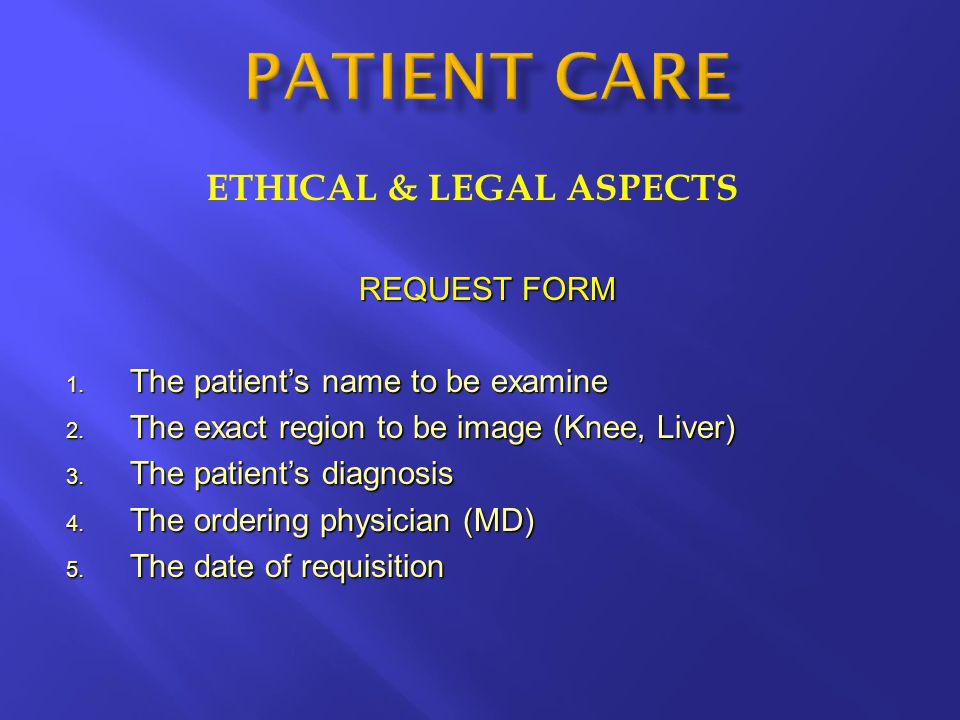 ETHICAL & LEGAL ASPECTS