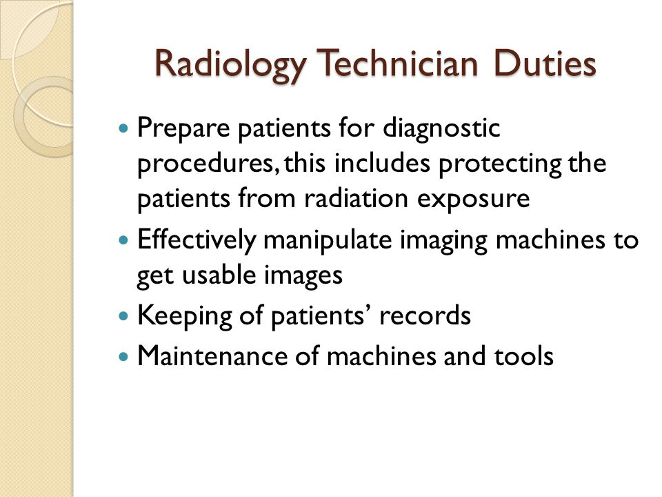 Radiology Technician Duties