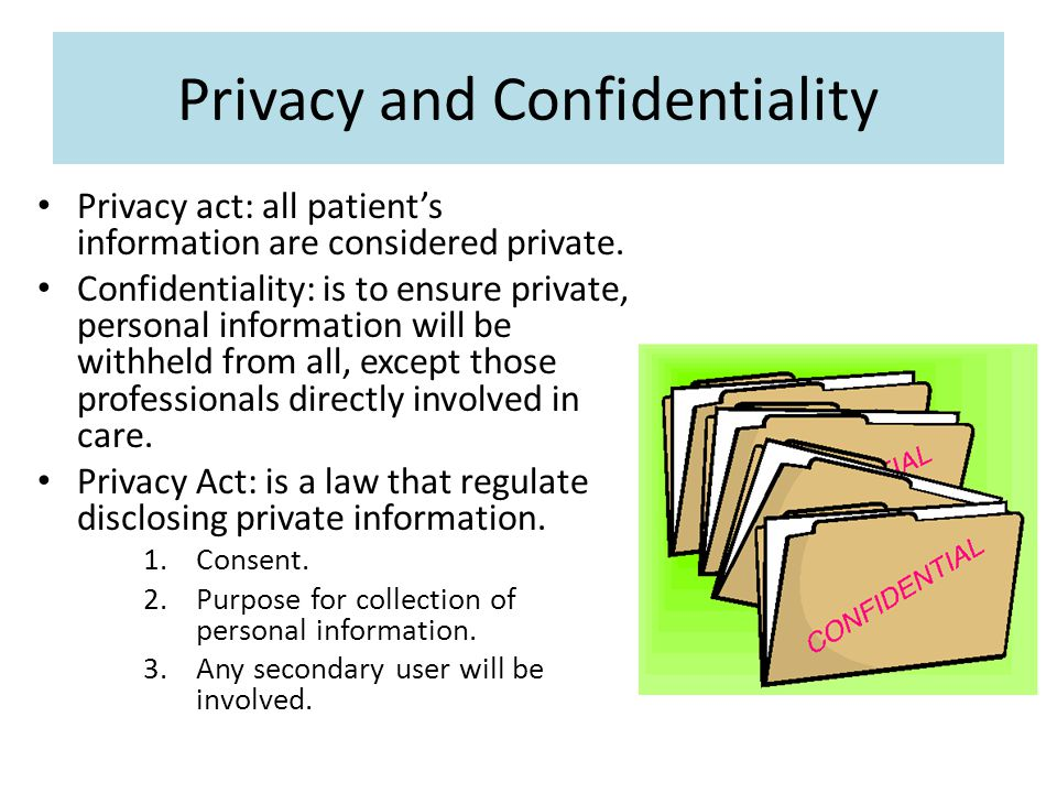 Patient consent and confidentiality