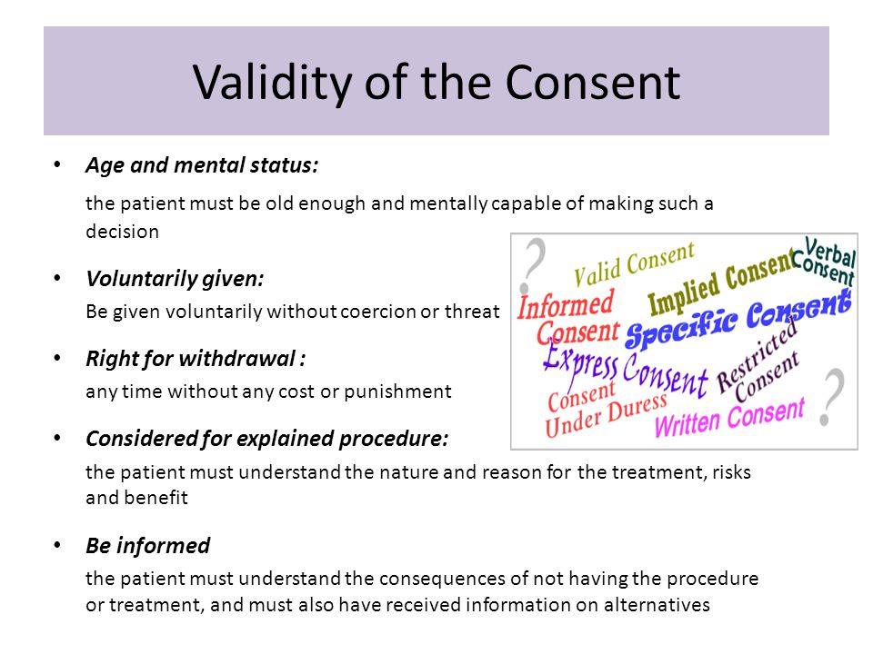 Validity of the Consent