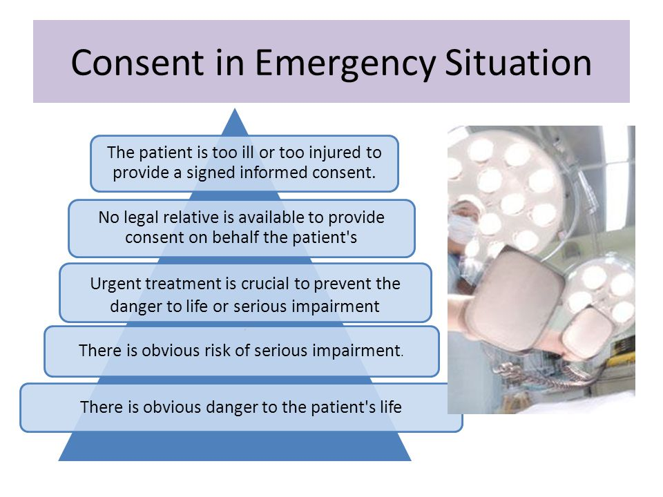 Consent in Emergency Situation