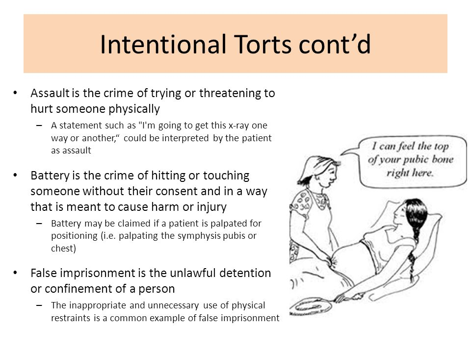 Intentional Torts cont'd