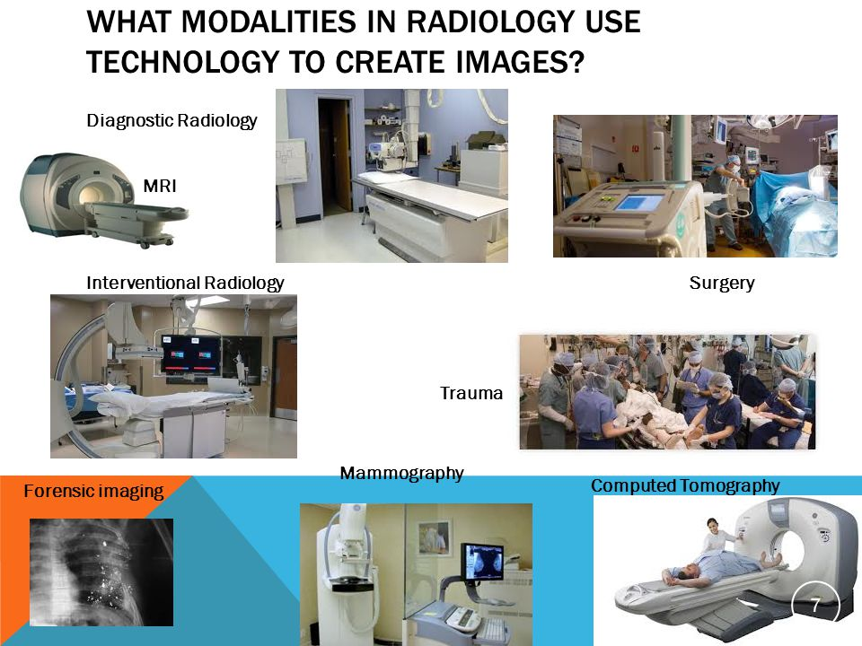 What modalities in radiology use technology to create images