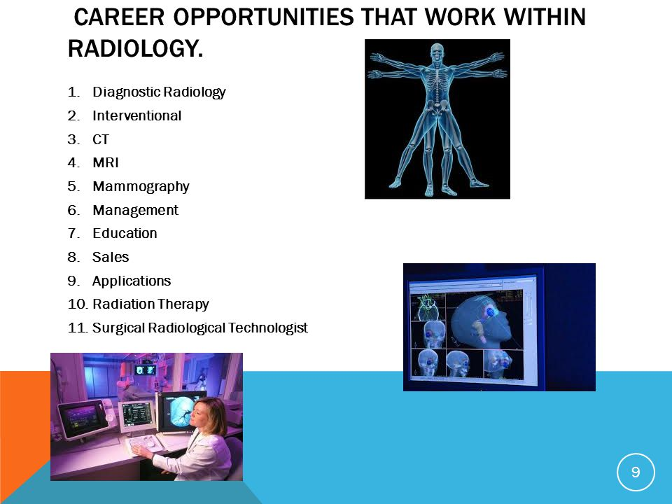 career opportunities that work within radiology.