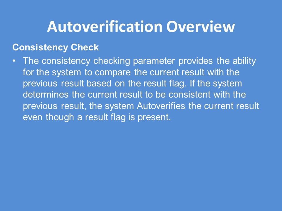 Autoverification Overview