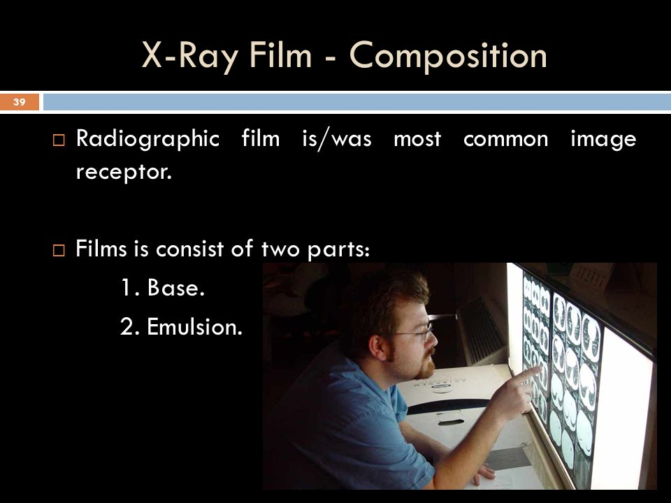 X-Ray Film - Composition