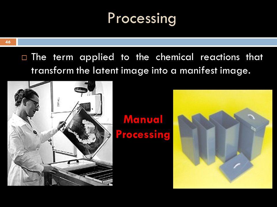 Processing Manual Processing
