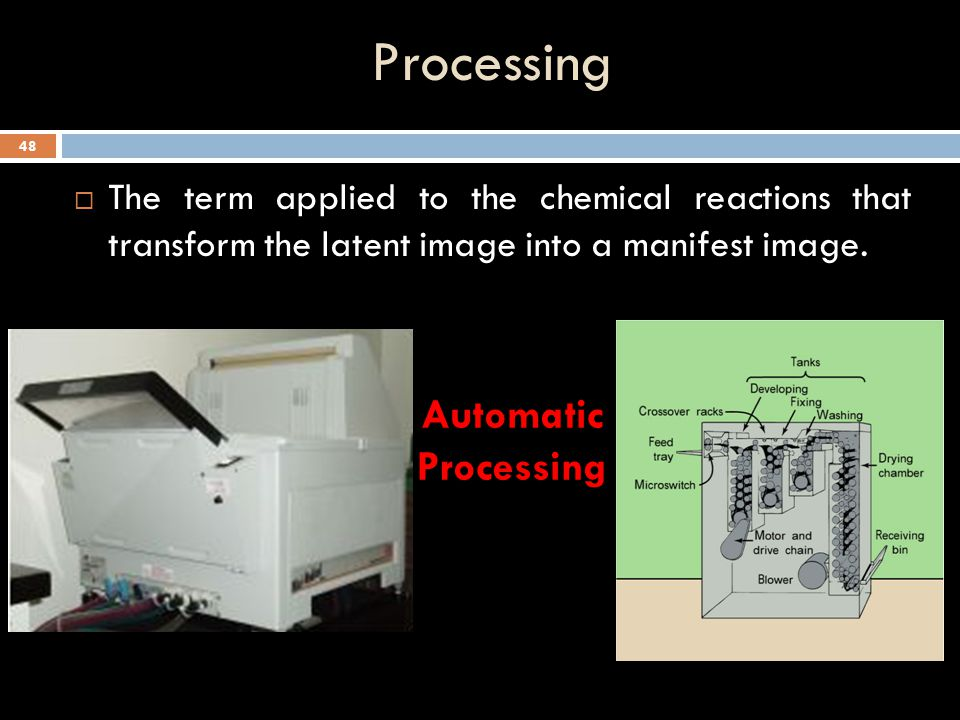 Processing Automatic Processing