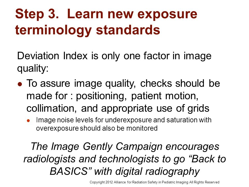 Step 3. Learn new exposure terminology standards