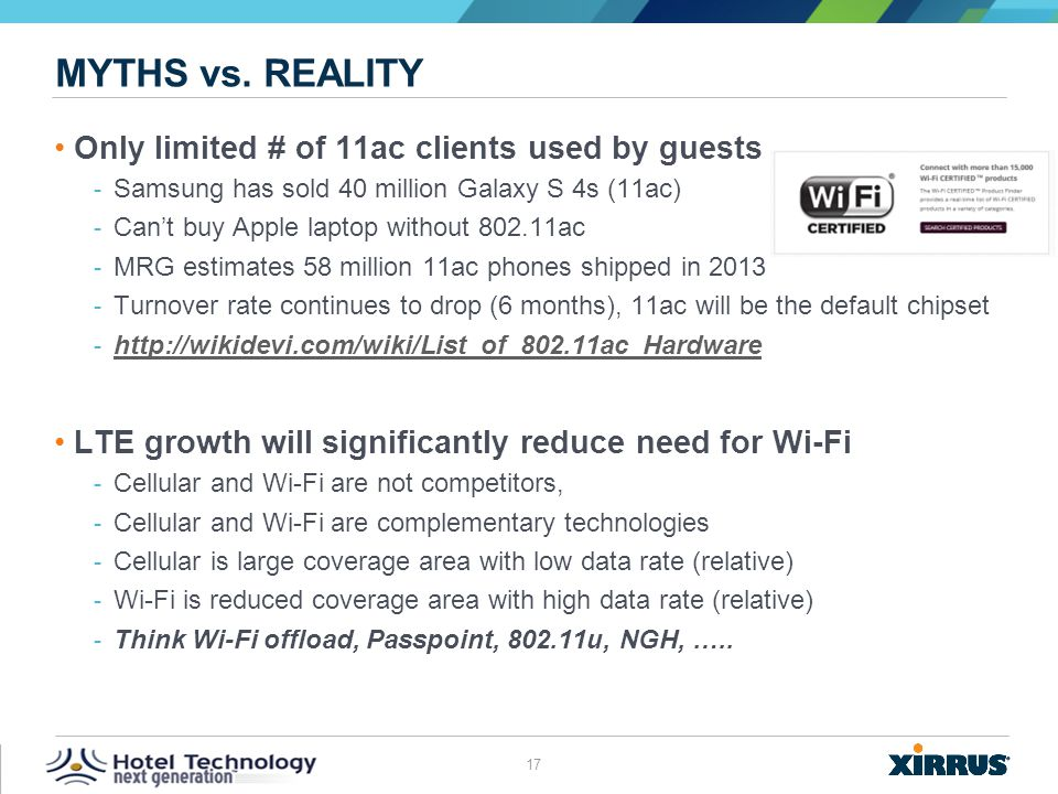 Myths vs. reality Only limited # of 11ac clients used by guests