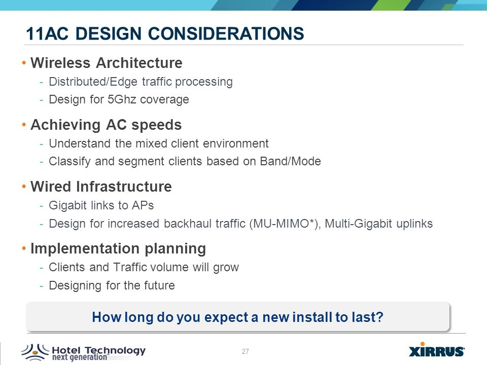 11ac Design considerations