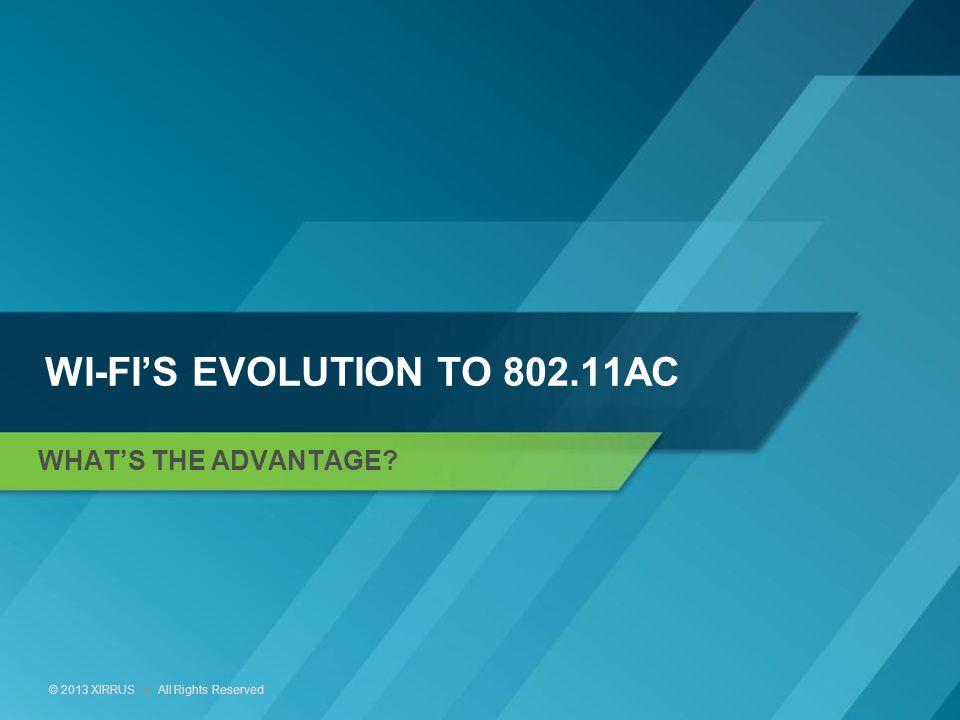 Wi-Fi's evolution to 802.11ac