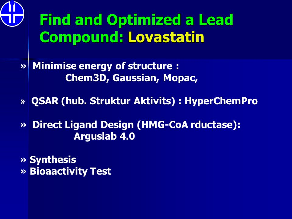 Find and Optimized a Lead Compound: Lovastatin