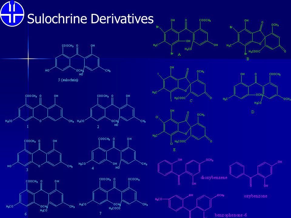 Sulochrine Derivatives