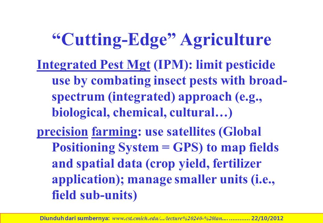 Cutting-Edge Agriculture