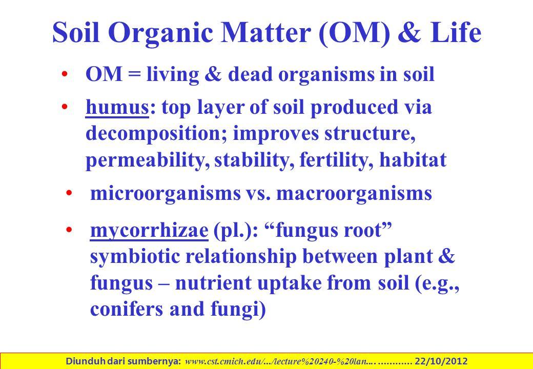 Soil Organic Matter (OM) & Life
