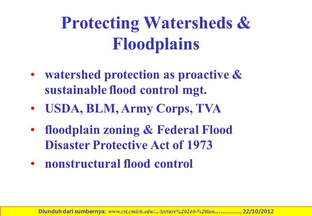 Protecting Watersheds & Floodplains