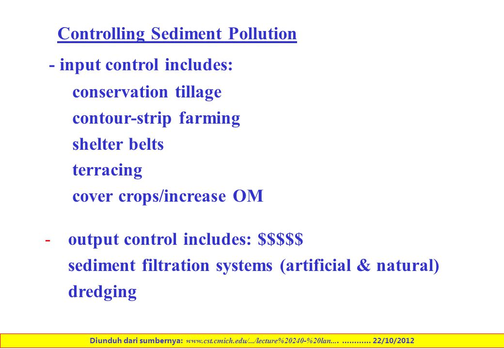 Controlling Sediment Pollution