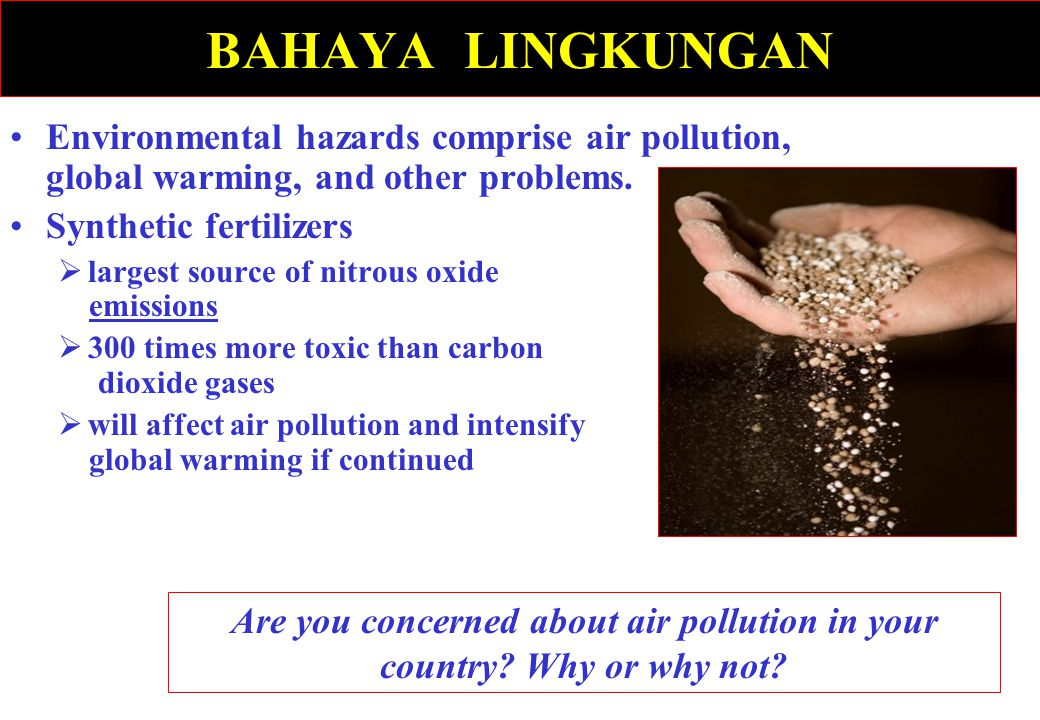 Are you concerned about air pollution in your country Why or why not