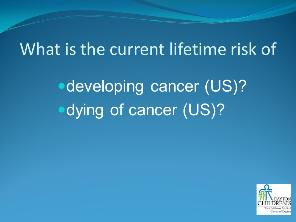 What is the current lifetime risk of