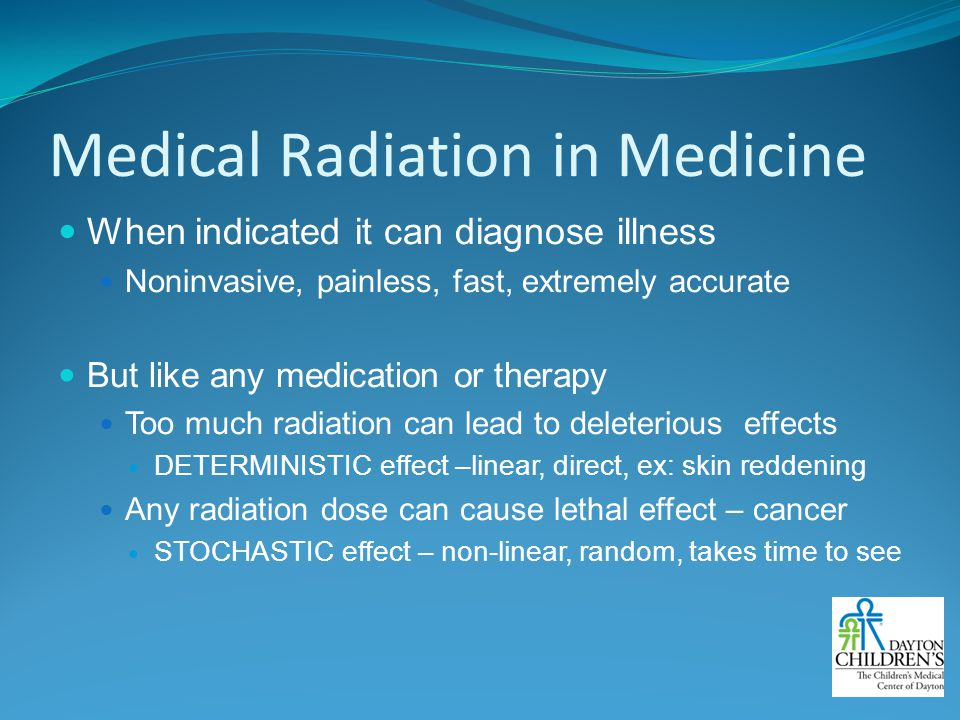 Medical Radiation in Medicine