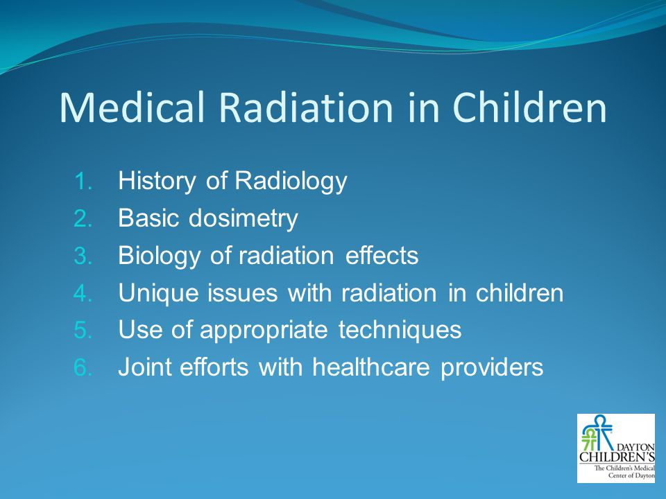 Medical Radiation in Children