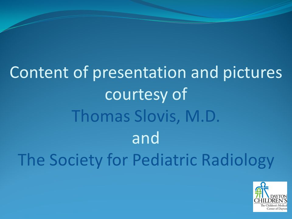 Content of presentation and pictures courtesy of Thomas Slovis, M. D